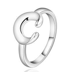 Vienna Jewelry Sterling Silver Open Ended Emblem Petite Ring Size: 8 - Thumbnail 0