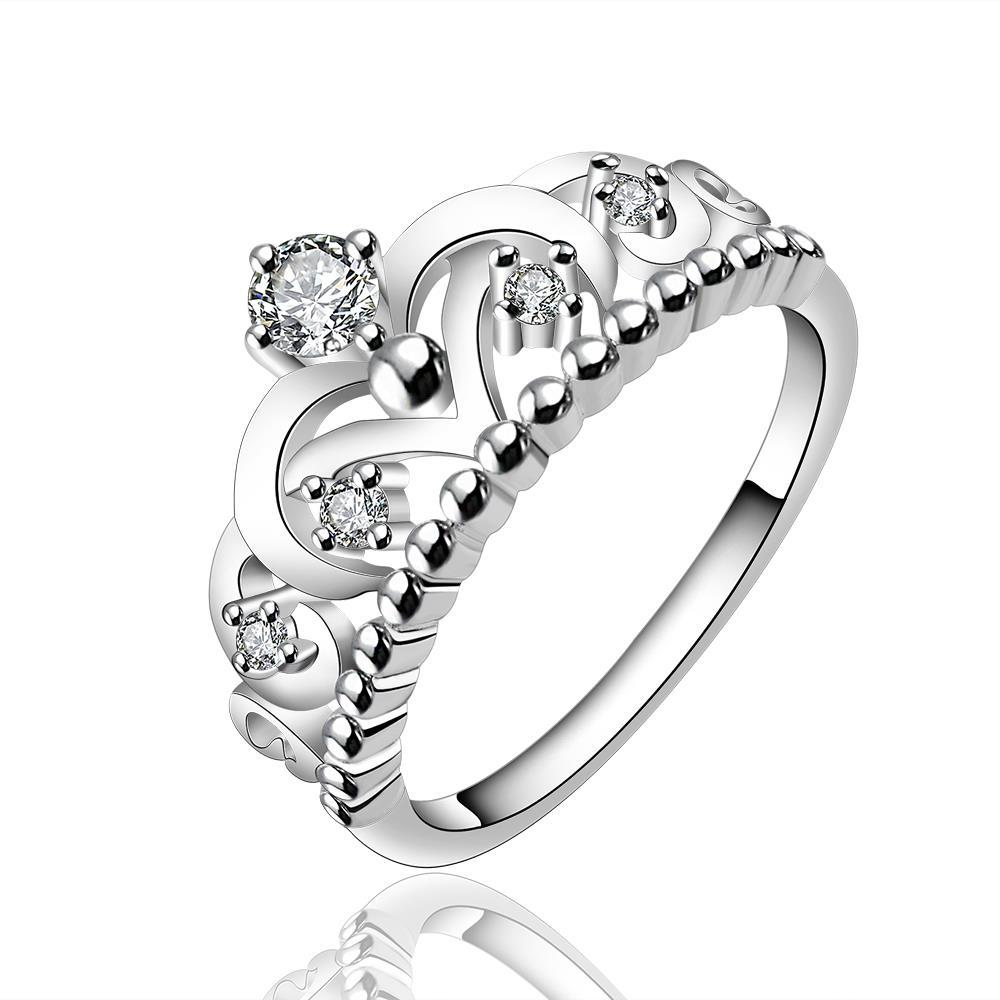 Vienna Jewelry Sterling Silver Queen's Crown Petite Ring Size: 7