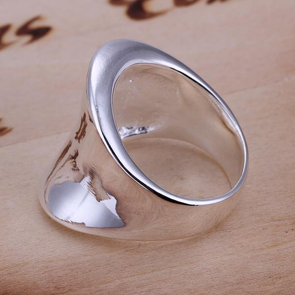 Vienna Jewelry Classical Sterling Silver Curved Classic Ring Size: 8