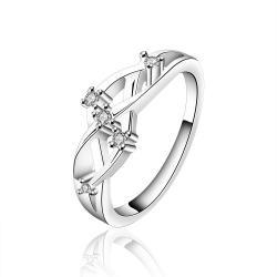 Vienna Jewelry Sterling Silver Interlocking Swirl Jewel Petite Ring Size: 8 - Thumbnail 0