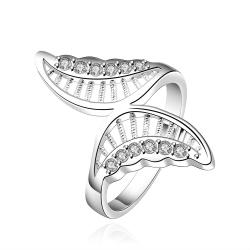 Vienna Jewelry Sterling Silver Twisted Butterfly Petite Ring Size: 8 - Thumbnail 0
