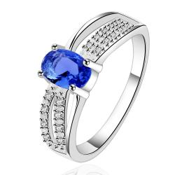 Vienna Jewelry Sterling Silver Sapphire Jewels Layering Petite Ring Size: 7 - Thumbnail 0