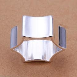 Vienna Jewelry Sterling Silver Geometric Ring Size: 8 - Thumbnail 0