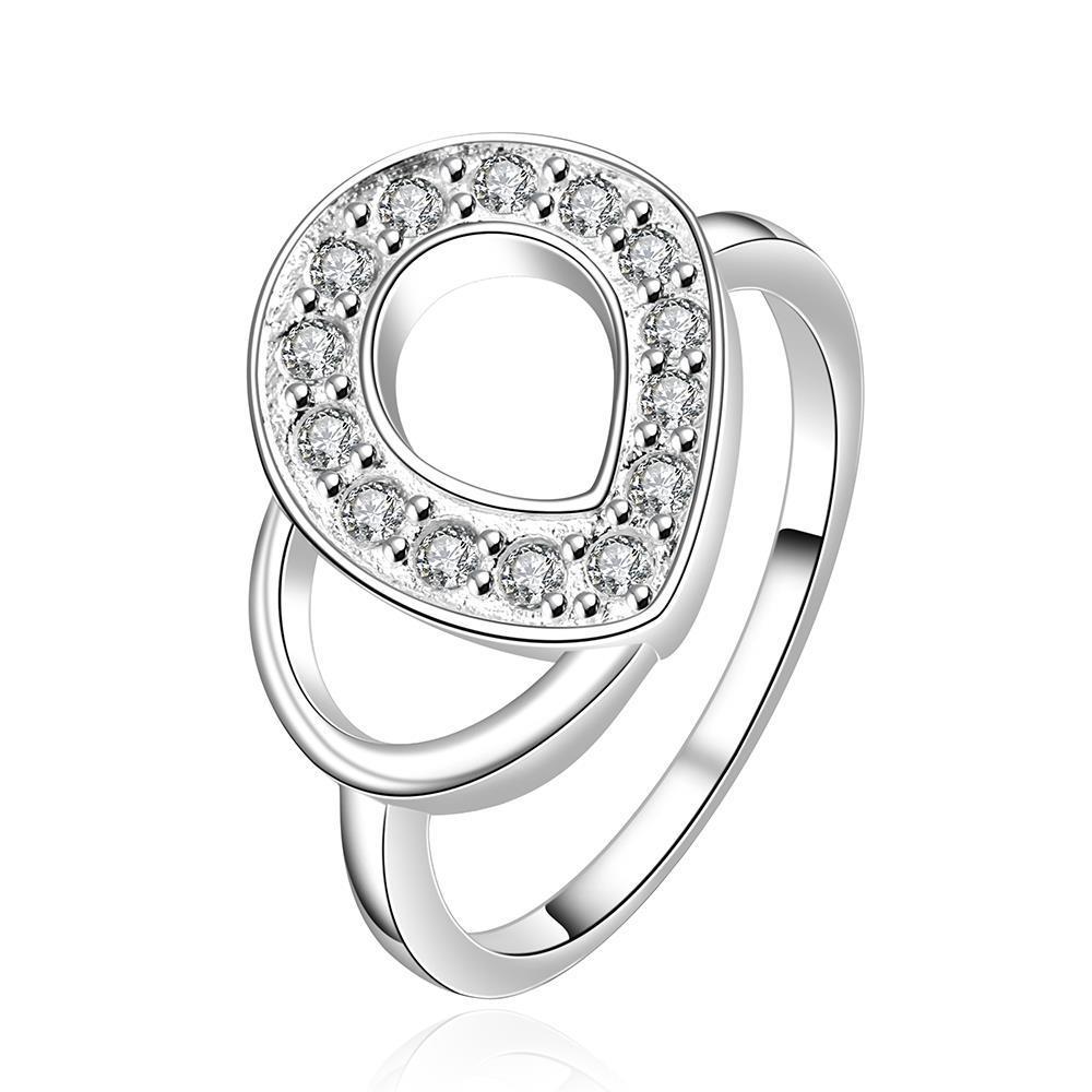 Vienna Jewelry Sterling Silver Duo-Swirl Emblem Design Modern Ring Size: 7
