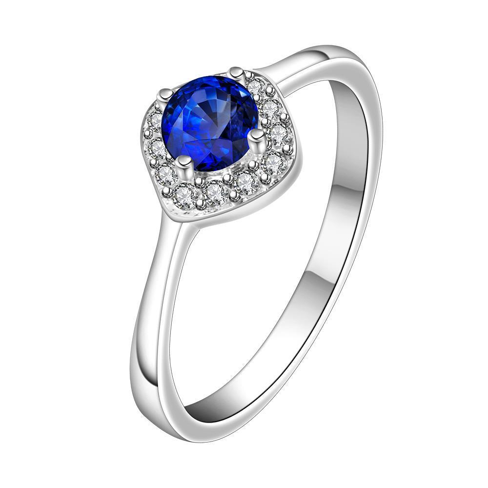 Vienna Jewelry Petite Mock Sapphire Gem Classic Ring Size: 8