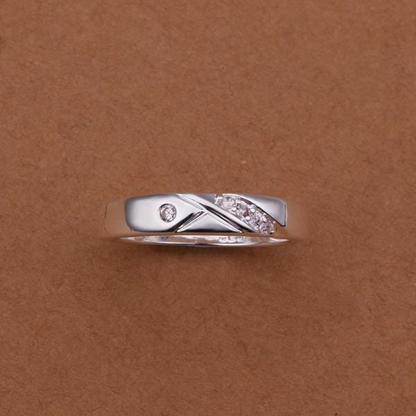 Vienna Jewelry Sterling Silver Curved Jewels Covering ring Size: 8