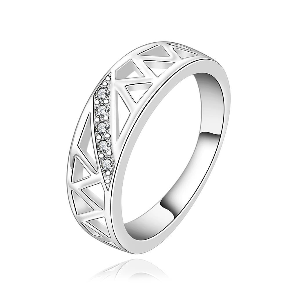 Vienna Jewelry Sterling Silver Laser Cut Inprint Ring Size: 8