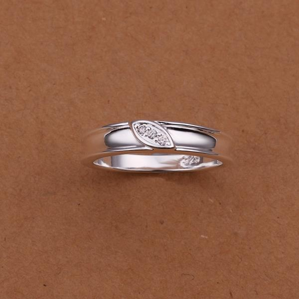 Vienna Jewelry Sterling Silver Petite Leaf Branch Classic Ring Size: 8