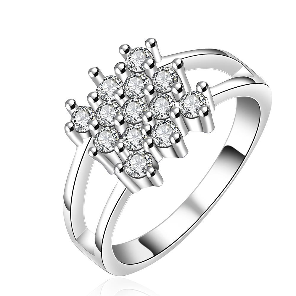 Vienna Jewelry Sterling Silver Multi Crystal Orchid Modern Ring Size: 8