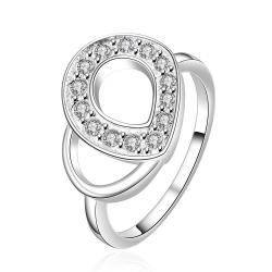 Vienna Jewelry Sterling Silver Duo-Swirl Emblem Design Modern Ring Size: 7 - Thumbnail 0