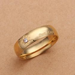 Vienna Jewelry Gold Coloring Pure Love Lining Petite Ring Size: 9 - Thumbnail 0