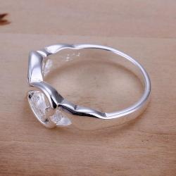 Vienna Jewelry Sterling Silver Infinite Heart Design Petite Ring Size: 7 - Thumbnail 0