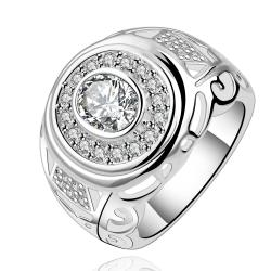 Vienna Jewelry Sterling Silver Circular Crystal Jewels Modern Ring Size: 7 - Thumbnail 0