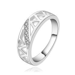 Vienna Jewelry Sterling Silver Laser Cut Inprint Ring Size: 8 - Thumbnail 0