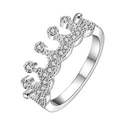 Vienna Jewelry Sterling Silver Tiara Jewels Ring Size: 8 - Thumbnail 0
