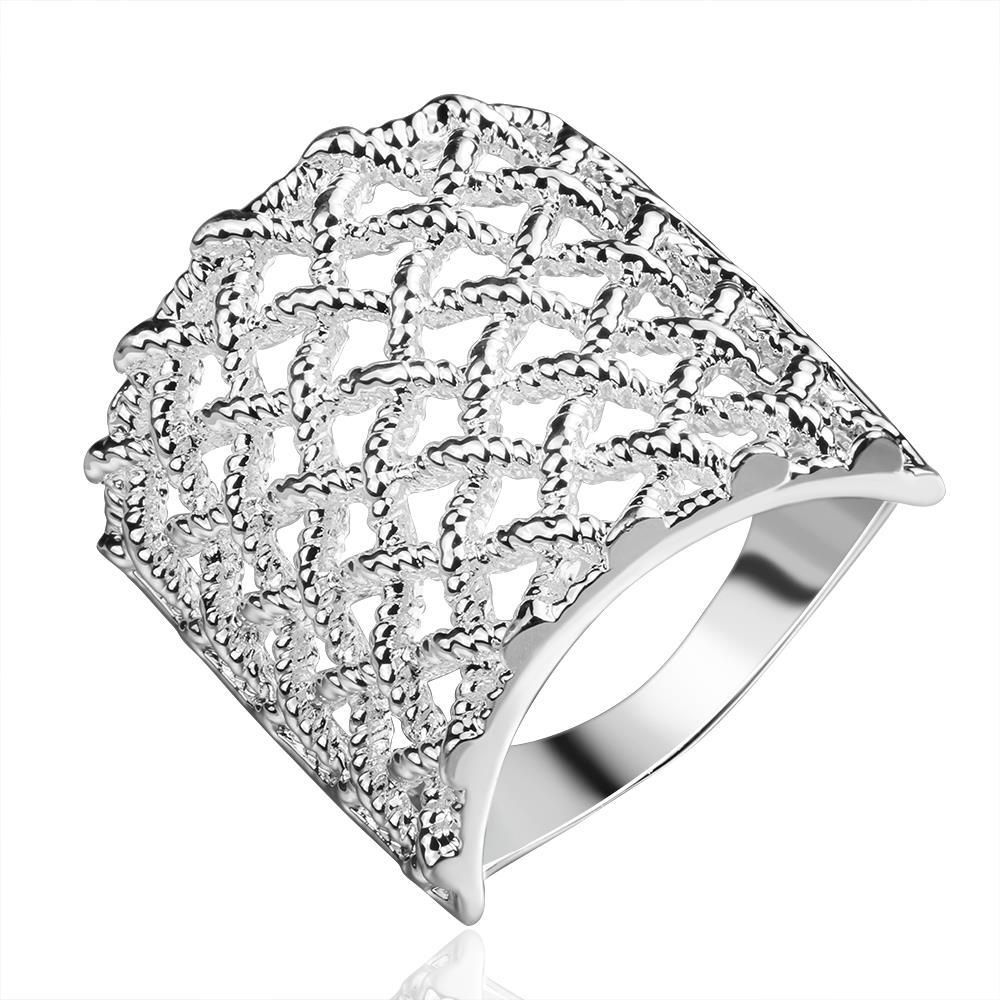 Vienna Jewelry Sterling Silver Multi Laser Cut Jewels Layering Ring Size: 8