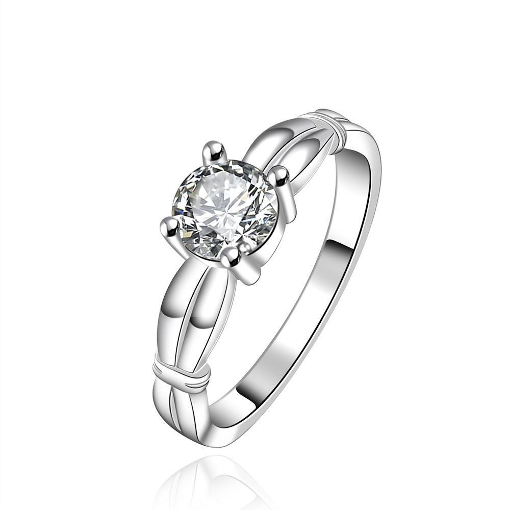 Vienna Jewelry Sterling Silver Pav'e Jewel Petite Ring Size: 7