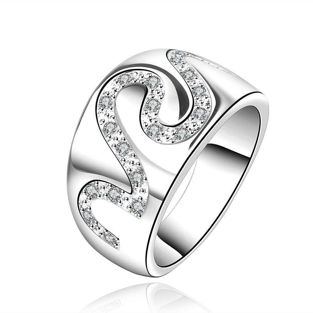 Vienna Jewelry Sterling Silver Swirl Jewels Covering Ring Size: 8