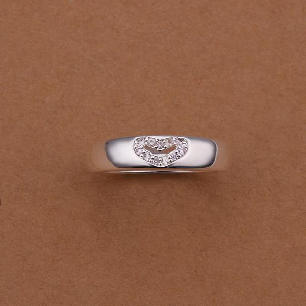 Vienna Jewelry Sterling Silver Petite Jewels Heart Covering Ring Size: 8