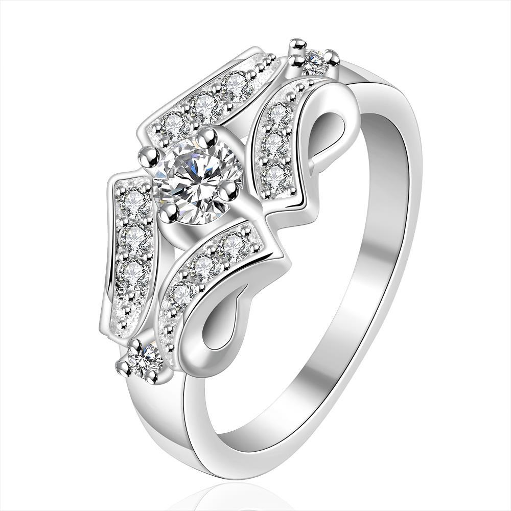 Vienna Jewelry Sterling Silver Quad Jewels Covering Petite Ring Size: 8