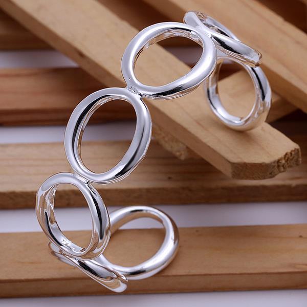 Vienna Jewelry Sterling Silver Circular Inprint Bangle
