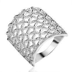 Vienna Jewelry Sterling Silver Multi Laser Cut Jewels Layering Ring Size: 8 - Thumbnail 0