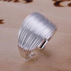 Vienna Jewelry Sterling Silver One Size Multi Layer Resizable Ring - Thumbnail 0