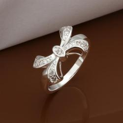 Vienna Jewelry Sterling Silver Love-Knot Petite Ring Size: 8 - Thumbnail 0