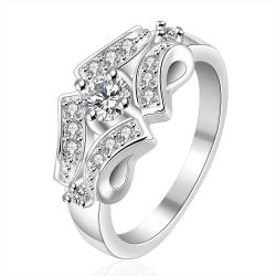 Vienna Jewelry Sterling Silver Quad Jewels Covering Petite Ring Size: 8 - Thumbnail 0
