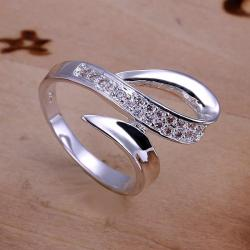 Vienna Jewelry Sterling Silver Duo Curved Lining Ring Size: 8 - Thumbnail 0