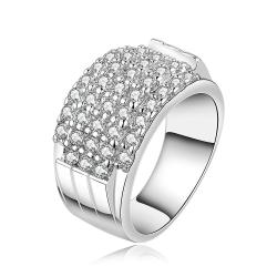 Vienna Jewelry Sterling Silver Multi-Jewels Covering Modern Ring Size: 7 - Thumbnail 0