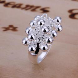Vienna Jewelry Sterling Silver Beaded Orchid Petite Ring Size: 6 - Thumbnail 0