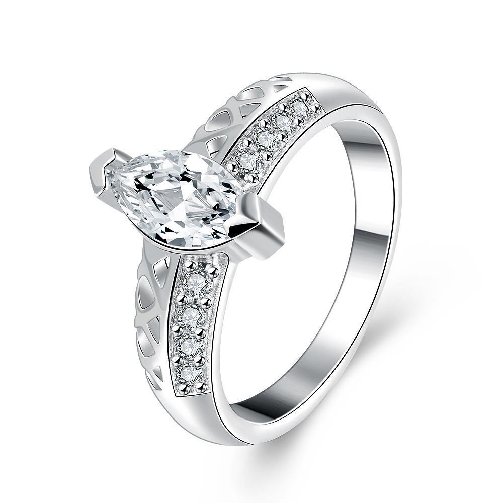 Vienna Jewelry Sterling Silver Medium Jewel Insert Petite Ring Size: 8