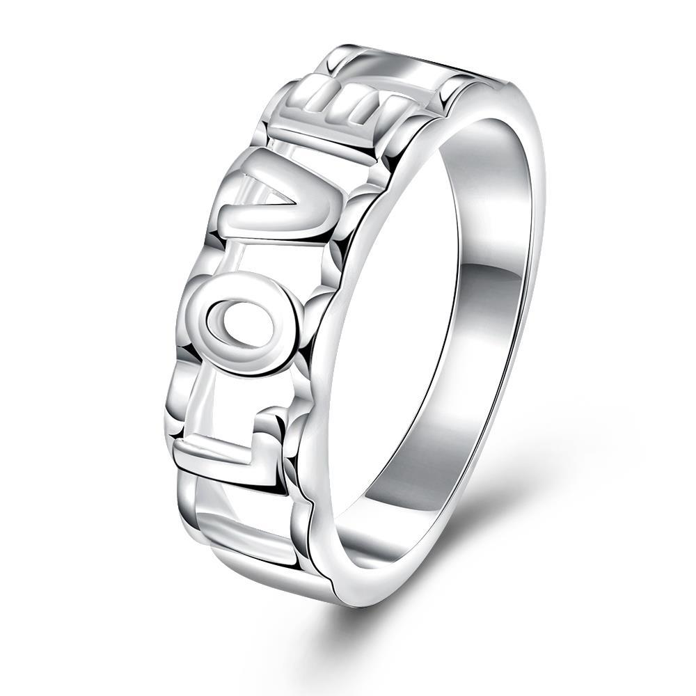 Vienna Jewelry Sterling Silver Love Ingrain Classic Band Size: 8