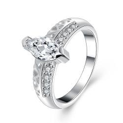 Vienna Jewelry Sterling Silver Medium Jewel Insert Petite Ring Size: 8 - Thumbnail 0