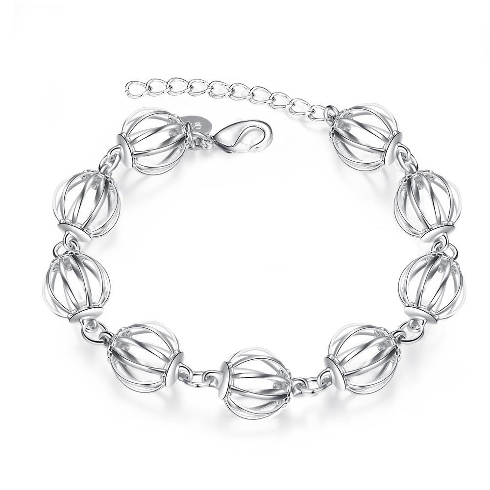 Vienna Jewelry Sterling Silver Laser Cut Circular Connecting Bracelet