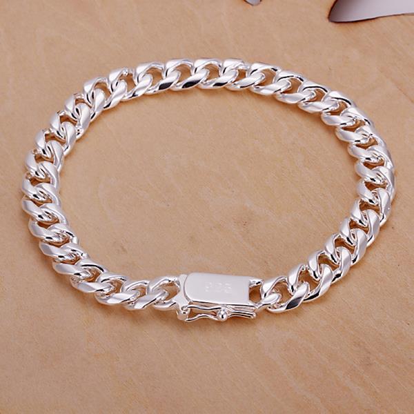 Vienna Jewelry Sterling Silver Multi Chain Link Sleek Bracelet