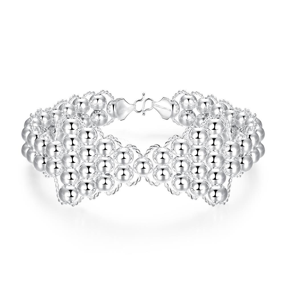 Vienna Jewelry Sterling Silver Pearl Infinite Knot Bracelet