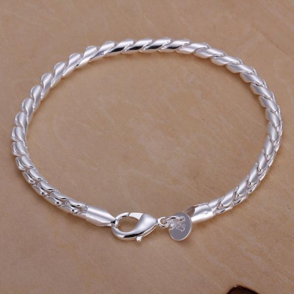 Vienna Jewelry Sterling Silver Intertwined Sleek Bracelet
