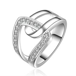 Vienna Jewelry Sterling Silver Swirl Closure Clasp Ring Size: 7 - Thumbnail 0