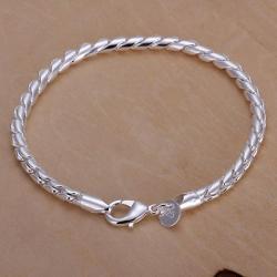 Vienna Jewelry Sterling Silver Intertwined Sleek Bracelet - Thumbnail 0