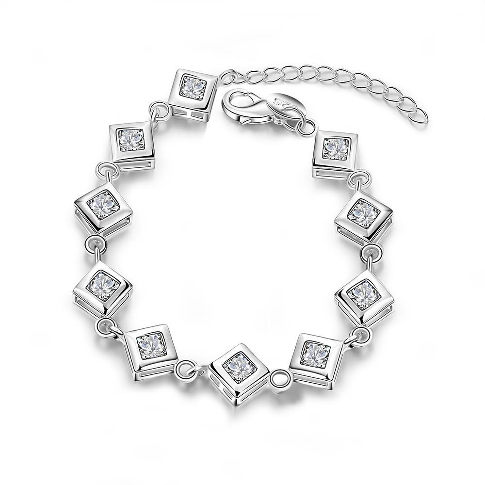 Vienna Jewelry Sterling Silver Multi Cubed Connecting Bracelet