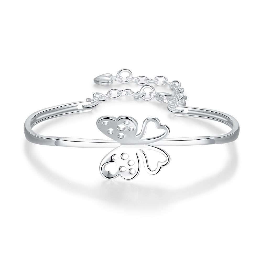 Vienna Jewelry Sterling Silver Petite Flying Butterfly Emblem Bangle