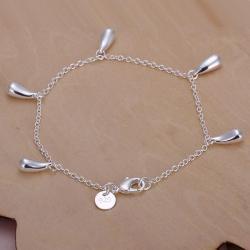 Vienna Jewelry Sterling Silver Dangling Tear Drop Bracelet - Thumbnail 0