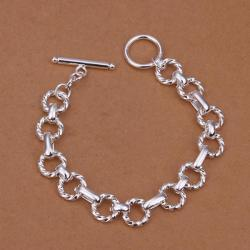 Vienna Jewelry Sterling Silver Multi-Circular Chain Bracelet - Thumbnail 0
