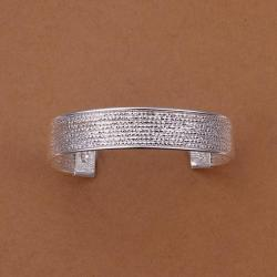 Sterling Silver Multi-Bead Open Bangle - Thumbnail 0