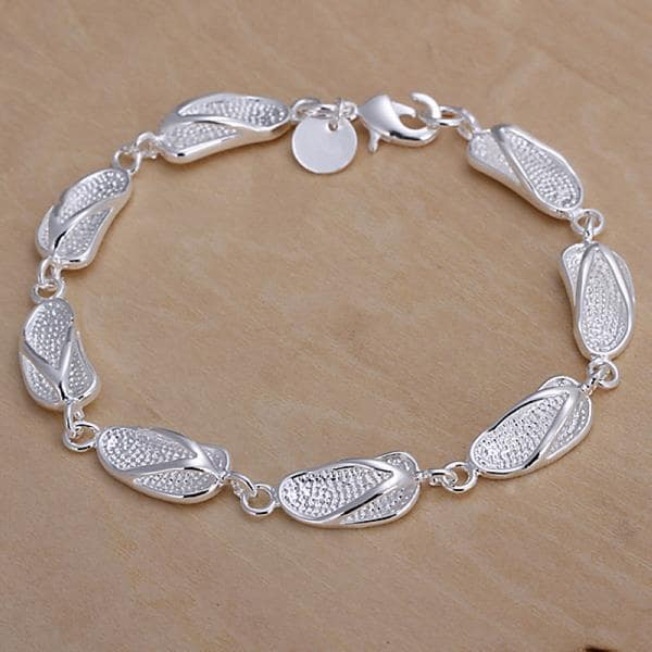 Vienna Jewelry Sterling Silver Walk In The Beach Bracelet