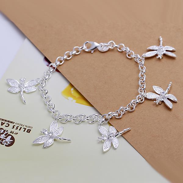 Vienna Jewelry Sterling Silver Multi-Petite Butterfly Bracelet