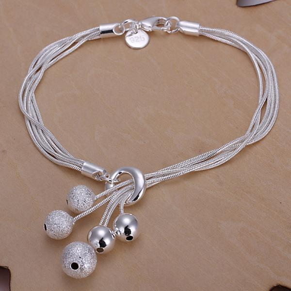 Vienna Jewelry Sterling Silver Pearl Orchid Closure Bracelet
