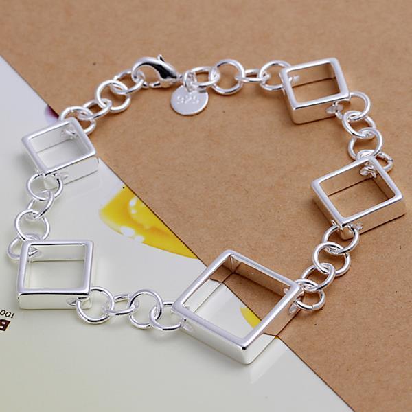 Vienna Jewelry Sterling Silver Multi-Heart Shaped Bracelet